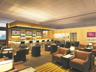 Submitted image An artist's rendering of the airport lounge.