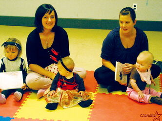 Baby Rhyme Time participants celebrate Halloween at their class in La Salle on Oct. 25.