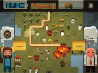 "The game ""Pipe Trouble"" is shown in this undated handout screen image. An online game funded by Ontario taxpayers that shows the bombing of a gas pipeline and drew criticism from the premiers of Alberta and British Columbia is being reviewed. TV Ontario, the province's public broadcaster, spent money to create the game ""Pipe Trouble"" to accompany a documentary about the pipeline debate in British Columbia. THE CANADIAN PRESS/HO - Pop Sandbox Productions"