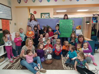 The staff and children at J.A. Cuddy Child Care Centre are collecting spare pennies for charity.