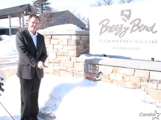 Cory Johnson, general manager at Breezy Bend Golf and Country Club, knows that it won't be too long before members are chasing a hole-in-one again despite our lingering  snowbanks.