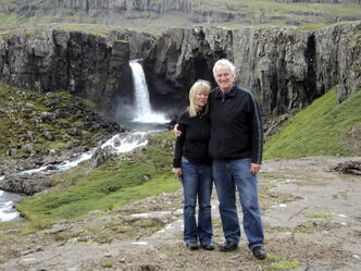 Craig Hildahl and Wendy in Iceland (2010)