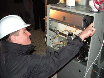 Gas furnaces should be serviced by a qualified service company every two years, says CMHC.