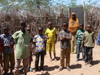 Kids in Ifo, one of the oldest refugee camps at Dadaab, the world's largest refugee camp.
