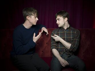 Dane DeHaan, left, and Daniel Radcliffe from the film