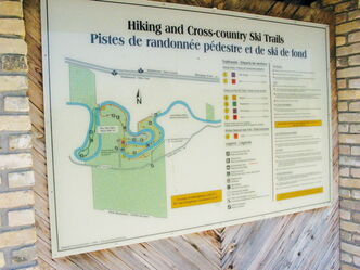 Information is available on the six trails that run through Beaudry Provincial Park.
