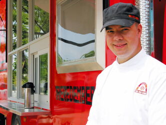 Steffen Zinn says this year is a learning experience for him as he takes his Red Ember food truck on the road, stopping at local farmers' markets and other  locations.