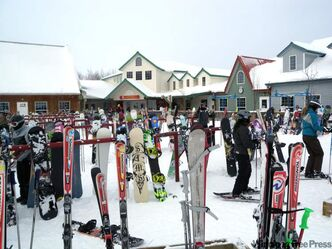 The base area at Asessippi Ski Area & Resort on December 18, 2010