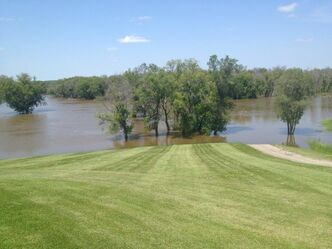 A golf course in Brandon has a new water hazard.