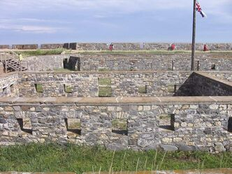 A view of the interior of Fort Prnce of Wales.