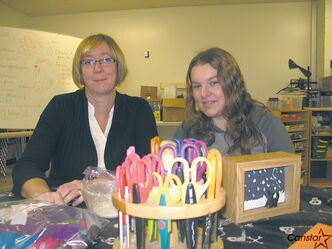 Tracey McCluskey and Myranda Poyser are hoping to fill the spaces in the before and after school child care program at École Viscount Alexander.