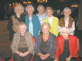 This group of 1942 Gordon Bell High School graduates meet twice a year for lunch.