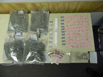 Drugs seized during a raid on a house in the RM of Lac du Bonnet.