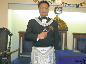 Richard Rey Galapon was recently installed the new worshipful master of Capitol Lodge No. 136.