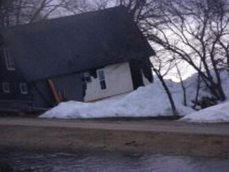 Ice from Dauphin Lake smashed into this home at Ochre Beach Friday. About 23 homes were destroyed and 27 affected. No injuries were reported.
