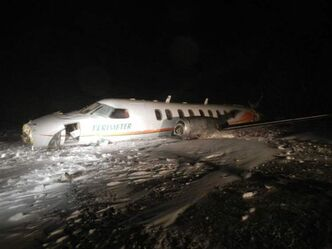 Perimeter Airlines twin-engine Metro Fairchild Swearingen crashed at Sanikiluaq