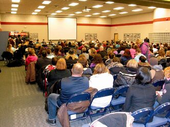 Members of the Louis Riel School Division community gathered on Jan. 7 to learn about the changes on the educational landscape in south St. Vital.