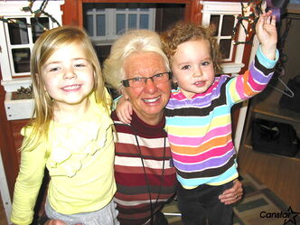 Grace Howard (centre) is retiring as executive director of Little Bo-Peep Early Learning Centre in Windsor Park.