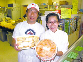 Ki Yong Park (right) and Claudia Kang are the new owners of Molly's Meat Pies.