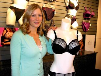 Cunard enjoys helping her clients find the perfect fit. She says around 80% of women are wearing the wrong sized bra.
