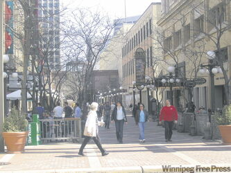 St. Paul is very pedestrian-friendly and features many downtown parks and street malls, such as this one.