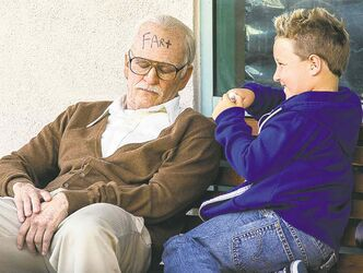 Disrespect your elders: Johnny Knoxville (left) and Jackson Nicoll in Bad Grandpa.