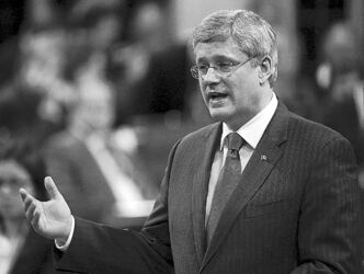 Prime Minister Harper in the House of Commons on Wednesday.