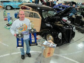 At last year's Rodarama Car Show, Larry Hosaluk took home a pile of awards with his stunning 1937 Lincoln Zephyr Woodie.