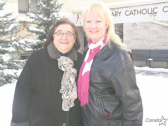 Tonina Fiorentino (left) and Donna Salo-Campbell have donated $10K to Siloam Mission.