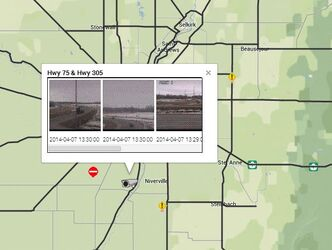 The province's online road information map now includes options to show images from five solar-powered cameras.