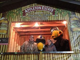 Irv and Sandi Koch, who have been season ticket holders to the Winnipeg Blue Bombers since 1970, made the winning bid of $10,000 to purchase the Appleton Rum Hut at a special auction Thursday evening at Canad Inns Stadium.