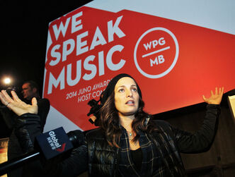 Chantal Kreviazuk at the 2014 Juno awards announcement. Kreviazuk, along with her husband Raine Maida will be honoured with the 2014 Allan Waters Humanitarian Award.