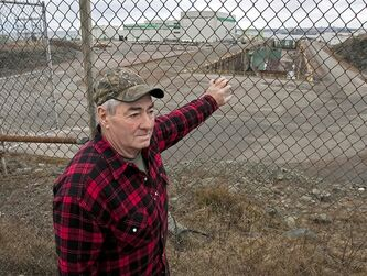 Douglas Noftell stands near the Irving shipyard, which once employed more than 3,000 people who built high-tech frigates, in Saint John, N.B. on Monday, Dec. 5, 2011. Noftell was among the last group of workers who walked out of the facility, in 2003 where he spent much of his working life. The national shipbuilding procurement program aims to end the boom and bust cycle of the industry and replace it with a steady flow of work to sustain highly skilled jobs over 20 to 30 years. THE CANADIAN PRESS/Andrew Vaughan