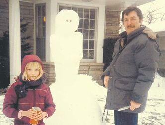 Sarah Polley with Michael Polley, whom she discovered was not her biological father.