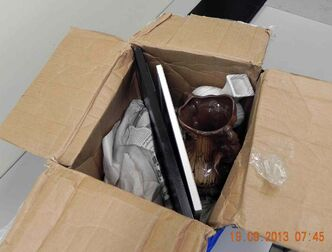 The parcel was seized on Sept. 17.