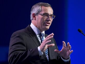 Treasury Board President Tony Clement delivers a speech in Ottawa, Tuesday October 8, 2013. THE CANADIAN PRESS/Adrian Wyld