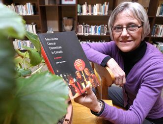Esther Epp-Tiessen and her book on the Mennonite Central Committee in Canada.