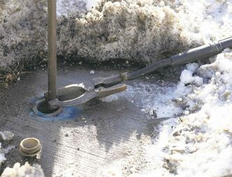 In this file photo, city crews work to thaw a water pipe.