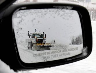 There are fewer plows on highways.
