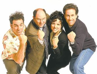 The cast of Seinfeld during the show's Thursday-night heyday.