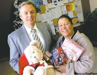 Brian Cyncora and Nancy Flett strive to make underprivileged kids happy.