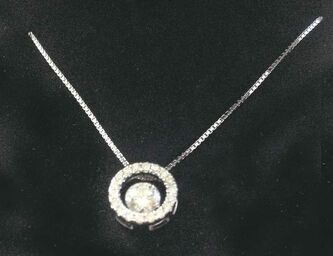 A Ben Moss Jewellers white gold and Canadian Ice diamond pendant is up for grabs in the Pennies draw.
