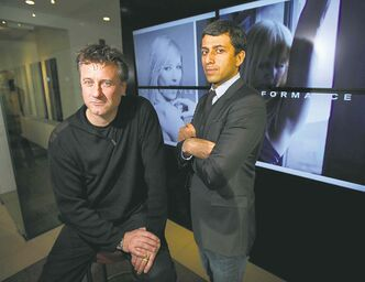 Mondetta's new head of interior design Roman Rozumnyj (left), with Mondetta president Ash Modha.