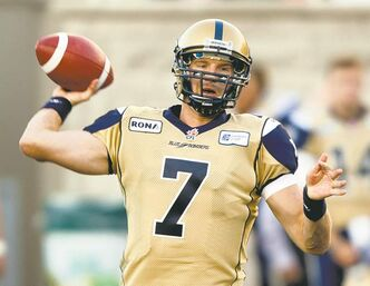 When the Blue Bombers' offence takes to the field in Toronto on Wednesday, it will be Alex Brink under centre, coach Paul LaPolice confirmed Sunday.