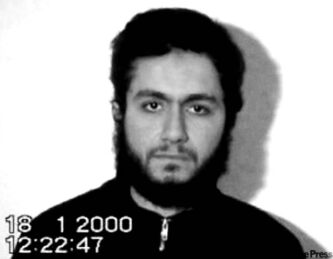 In this picture taken from video and provided by The Sunday Times London, showing September 11, 2001, suicide pilot Mohamed Atta,  in a video dated January 18, 2000, more than a year before the 9/11 attacks in the United States. The Sunday Times said Sunday, Oct. 1, 2006, that the Jan. 18, 2000, video was made in Afghanistan for release after the men's deaths. The newspaper said it had obtained the video