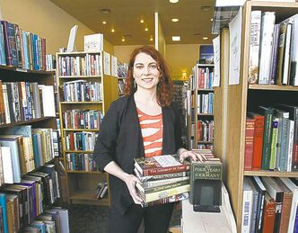Aimee Peake welcomes the new 'book mall' in Bison Books.