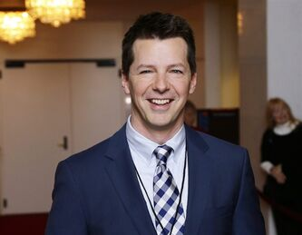 "FILE - This Oct. 22, 2012 file photo shows actor Sean Hayes poseing for photographers at the 15th annual Mark Twain Prize for American Humor at the Kennedy Center in Washington. Hayes, Parker Posey, Minnie Driver and Gillian Anderson have prominent roles in new television series that NBC will try next season. The network said Thursday, May 9, 2013, it had ordered five new series, in advance of its annual schedule announcement on Sunday. That's when it will become clear what current shows the network will cancel to make way for the new ones. Former ""Will & Grace"" actor Hayes stars as a gay divorced dad in ""Sean Saves the World,"" one of three new comedies. (AP Photo/Alex Brandon, file)"