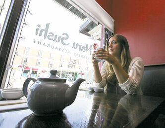 Rebecca Henderson reminisces about her past experiences at Naru Sushi, located at 159 Osborne St., over a cup of tea.