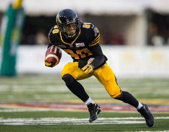 """He must be a geometry major because he knows angles well,"" says -Ticats QB Henry Burris on receiver Chris Williams (pictured)."