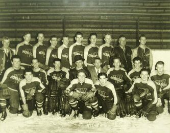 <p>Manitoba Sports Hall of Fame</p><p>Robertson and the Winnipeg Monarchs were the 1946 Memorial Cup winners.</p>